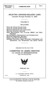 Selected defense related laws  amended through December 31  2003  PDF