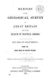The Iron Ores of Great Britain: Iron ores of South Wales