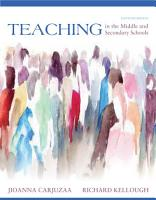Teaching in the Middle and Secondary Schools PDF