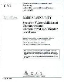 Border Security  Security Vulnerabilities at Unmanned and Unmonitored U S  Border Locations PDF