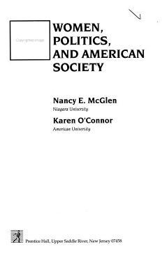 Women  Politics  and American Society PDF
