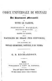 Codice universale di Segnali ad uso dei bastimenti mercantili di tutte le nazioni, etc