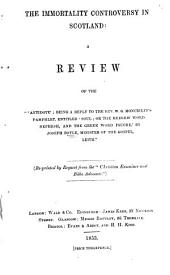 The immortality controversy in Scotland; a review of the 'Antidote ... by J. Boyle'.
