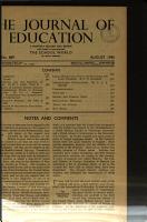 Journal of Education PDF