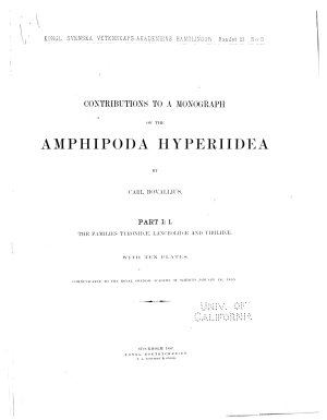 Contributions to a Monograph of the Amphipoda Hyperiidea