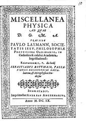 Miscellanea Physica