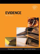 Evidence Lawcards 5/e: Fifth edition, Edition 5