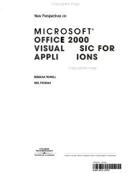New Perspectives on Microsoft Office 2000 Visual Basic for Applications PDF