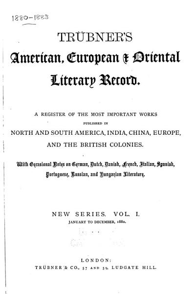 Download Trubner s American and Oriental Literary Record Book