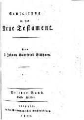 Einleitung in das Neue Testament: Band 3