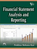 Financial Statement Analysis and Reporting PDF