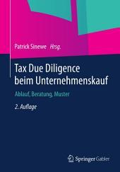 Tax Due Diligence beim Unternehmenskauf: Ablauf, Beratung, Muster, Ausgabe 2