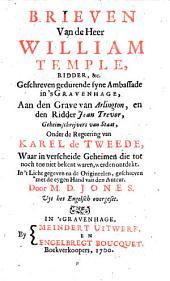 Brieven van de heer William Temple [...] geschreven gedurende syne ambassade in's Gravenhage