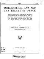 International Law and the Treaty of Peace PDF