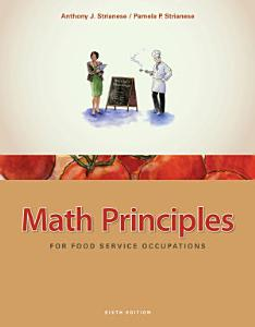 Math Principles for Food Service Occupations Book