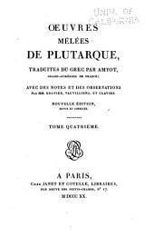 Oeuvres de Plutarque: Volume21