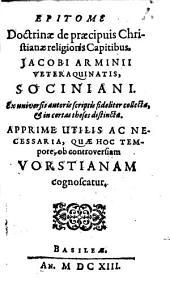 Epitome doctrinae de praecipuis christ. religionis capitibus