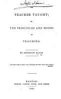 The Teacher Taught PDF
