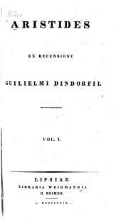 Aristides: Volume 1