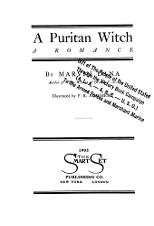 A Puritan Witch: A Romance