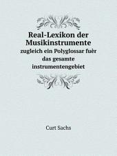 Real-Lexikon der Musikinstrumente