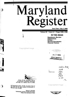 Maryland Register PDF
