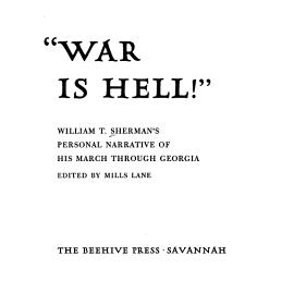 War is Hell   Book