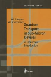 Quantum Transport in Submicron Devices: A Theoretical Introduction