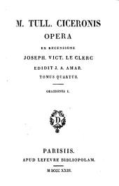 Orationes: Ser.2, 14-19 : M. Tull. Ciceronis Opera ; 4-9