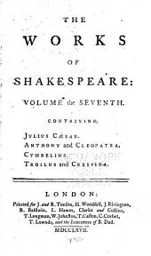 The Works of Shakespeare: in Eight Volumes: Volume 7