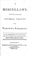 A Miscellany  Containing Several Tracts on Various Subjects PDF