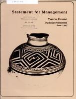 Statement for Management  Saguaro National Monument PDF