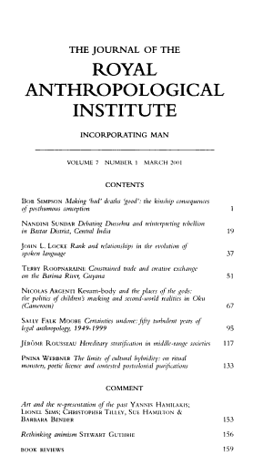 The Journal of the Royal Anthropological Institute PDF