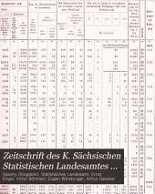 Zeitschrift des K. Sächsischen Statistischen Landesamtes ...: Band 42