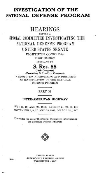 Download Investigation of the National Defense Program Book