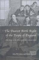 The Dearest Birth Right of the People of England PDF