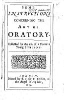 Some Instructions Concerning the Art of Oratory PDF
