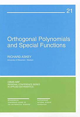 Orthogonal Polynomials and Special Functions PDF