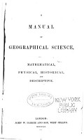 A Manual of Geographical Science PDF