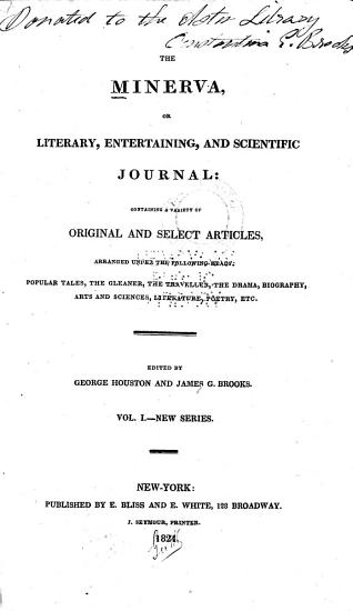 The Minerva  Or  Literary  Entertaining  and Scientific Journal PDF