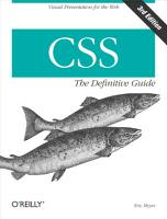 CSS  The Definitive Guide PDF