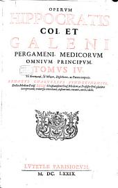 (Hippocratis is et Galeni) ... opera ...