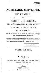 Nobiliaire universel de France ou recueil général des généalogies historiques des maisons nobles de ce royaume
