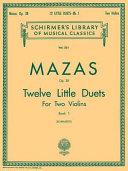 12 Little Duets, Op. 38