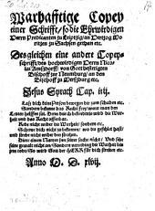 Warhafftige Copey einer Schrift, so die ... Predikanten zu Leiptzig an Herzog Moritzen zu Sachsen gethan ... desgleichen eine andere Copeyschrifft, des ... Nicolai Amszdorff an den Bischoff zu Merszburg
