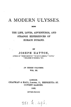 A modern Ulysses