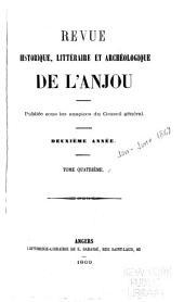Revue historique, littéraire et archéologique de l'Anjou: Volume4
