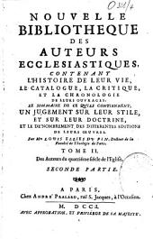 Nouvelle bibliothèque des auteurs ecclésiastiques