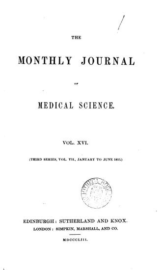 The Monthly Journal of Medical Science PDF