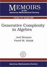 Generative Complexity in Algebra
